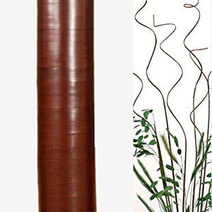 20 in. Cylinder Bamboo Floor Vase - Cocoa Brown