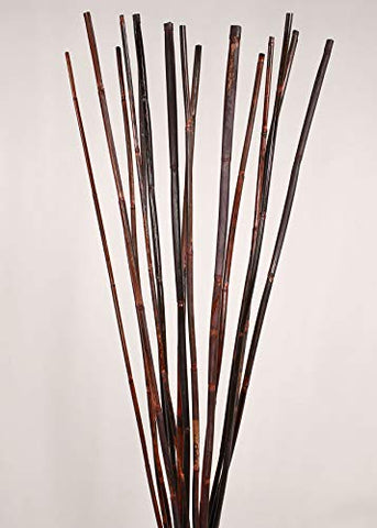Green Floral Crafts | Natural River Cane | 4.5 Ft. | 3-Tone Mahogany | Pack of 15