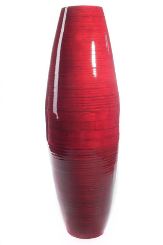 "Green Floral Crafts | 36"" Bamboo Cylinder Floor Vase 