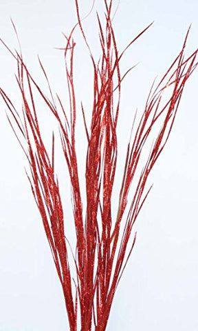 Green Floral Crafts Sparkle Red Wild Grass- (Vase Not Included)