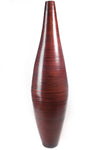 "41"" Ellipse Bamboo Floor Vase - Cocoa Brown"