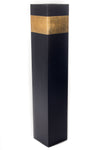 28'' Rectangle Tall Black Floor Vase | Gold Accent (Floral not Included)