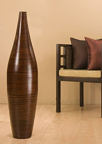 41 in. Ellipse BROWN Bamboo Vase and DIY Bamboo Branches