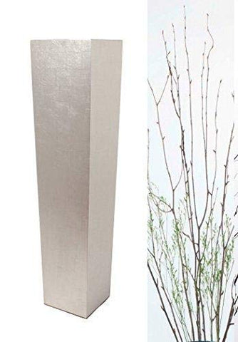 "36"" Tall Floor Vase - All Silverleaf Vase& Branches"