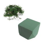 Green Floral Crafts | Dry Floral Foam Brick & Moss Pack- Green