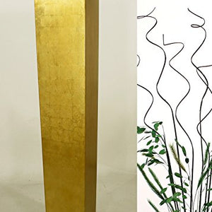 "27"" Tapered Floor Vase - Solid Gold"