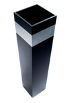 "36"" Tapered Tall Black Floor Vase 