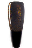 27'' Bamboo Tapered Floor Vase - Dark Gold & Black Swirl