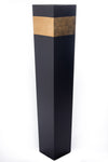 "27"" Black Tapered Floor Vase - Gold Accent"