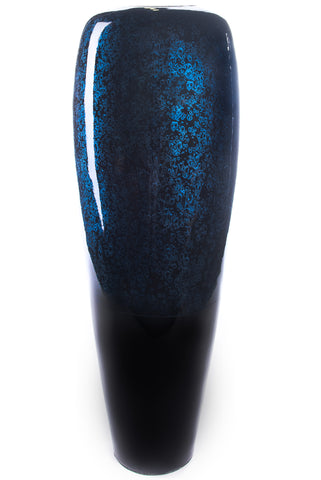 "24"" Bamboo Tapered Floor Vase - Black And Blue"