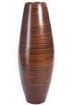 "27"" Bamboo Cylinder Floor Vase - Brown"