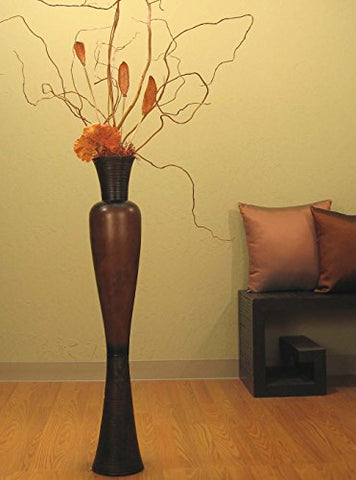 "36"" Tall Mango Wood Angel Floor Vase (Floral Not Included)"