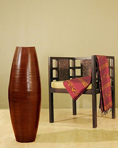 "36"" Bamboo Cylinder Floor Vase 