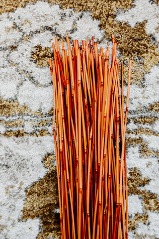 Decorative Reed Sticks | Burnt Orange