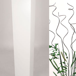 "27"" Tapered Floor Vase - Solid White"