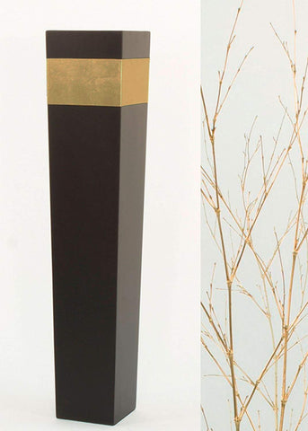 "Green Floral Crafts | 36"" Tapered Tall Black Floor Vase 