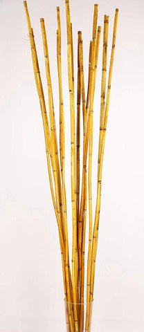 Natural River Cane 4.5 Ft, Autumn Yellow, Pack of 15