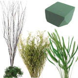 Green Floral and Branch kit | 3-4""