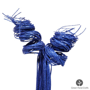 2 Ft Glitter Sparkle ROYAL BLUE Curly Ting & Blue Sparkle Wispies | Approx. 40-50 Stems