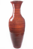 36'' Tall Brown Bamboo Floor Vase