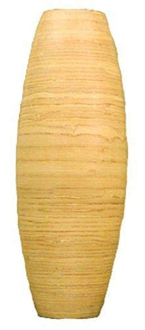 24'' Bamboo Cylinder Floor Vase - Natural Finish