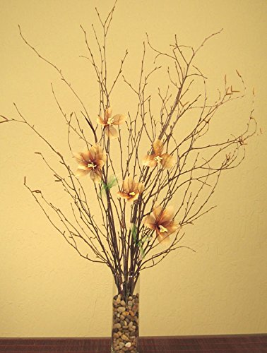 Natural Birch Branches & Star Lilies Combo Pack (Vase Not Included)