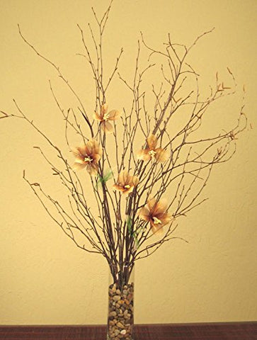Green Floral Crafts Natural Birch Branches & Star Lilies Combo Pack (Vase Not Included)