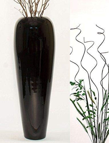 "27"" Bamboo Lacquer Tapered Floor Vase 