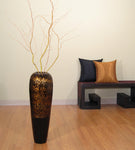 "36"" Bamboo Lacquer Tapered Swirl Vase 
