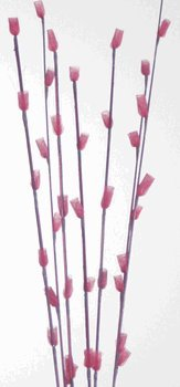 "Green Floral Crafts Floret Stems 39"" Pack of 9 - Burgundy"