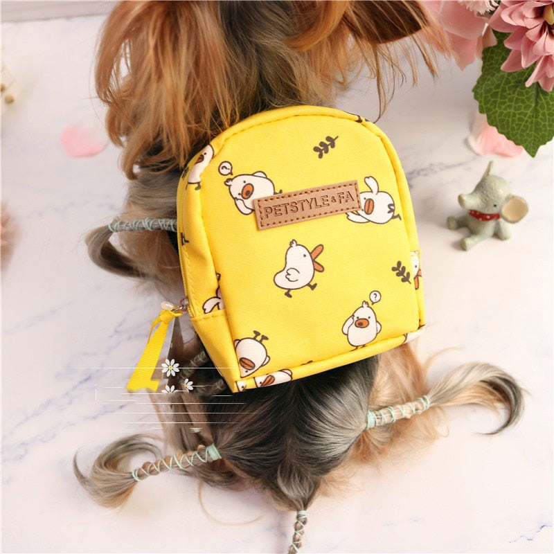 Pet School Bag With Leash
