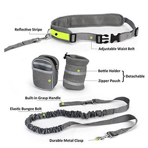 Jogging Belt Reflective with an elastic leash for running with your dog