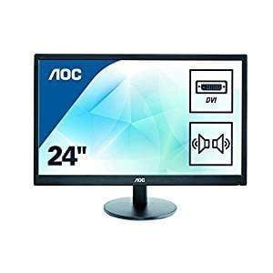 "AOC E2470SWDA 23.6"" 1920x1080 TN Widescreen LED Monitor - Black - WMTech - Buy Components 