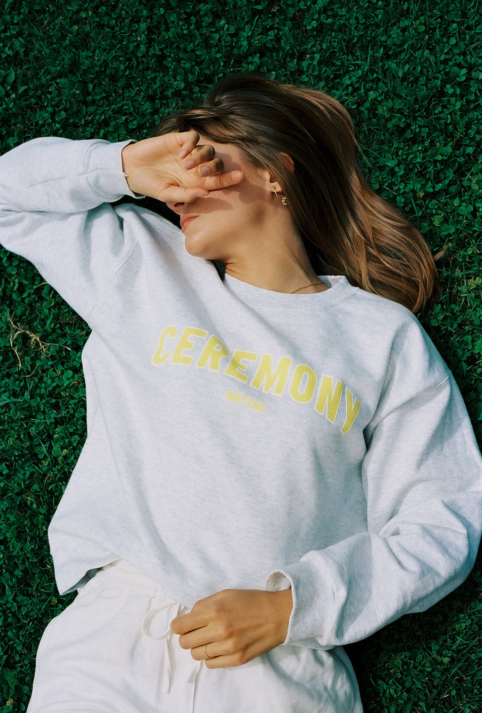Ceremony College Sweater Yellow
