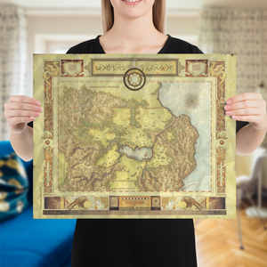 Suikoden Old Map Poster
