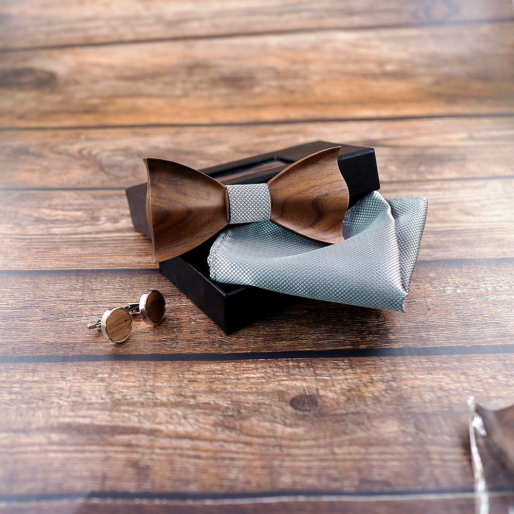 3D Wooden Bow Tie