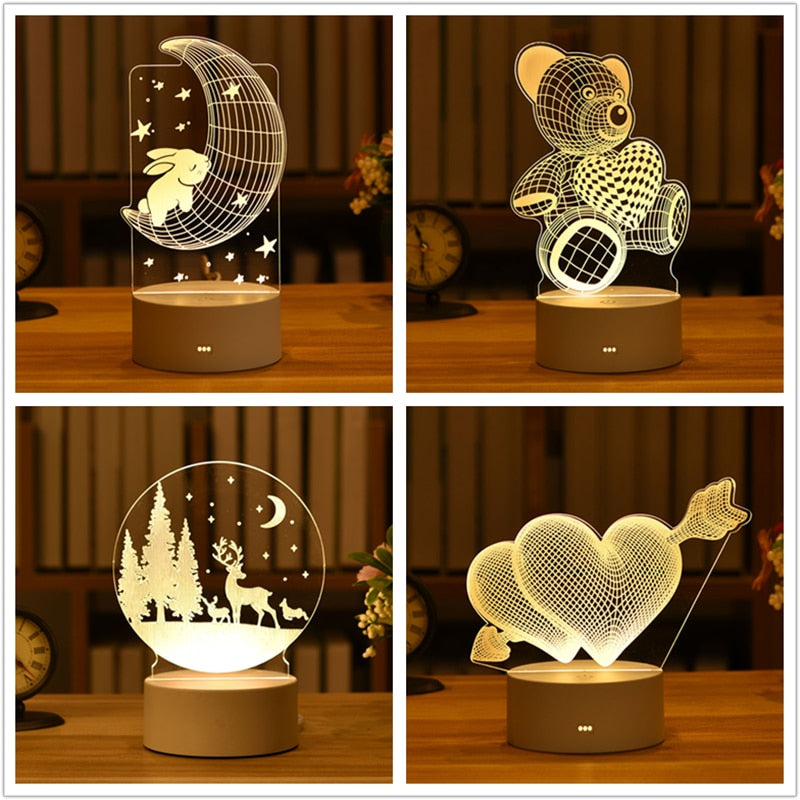 3D LED Ambient Lamp Collection
