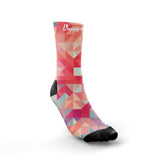 ''Hectic geometric'' crew running socks