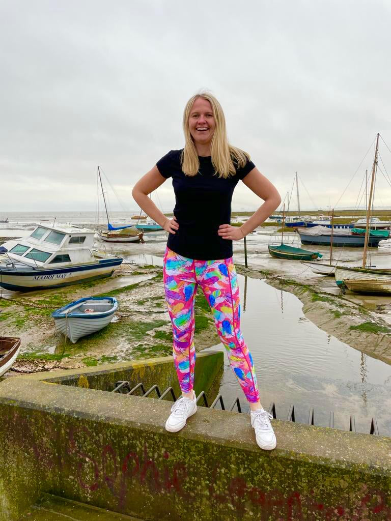 """Light as a feather"" pink leggings (all rounder)"