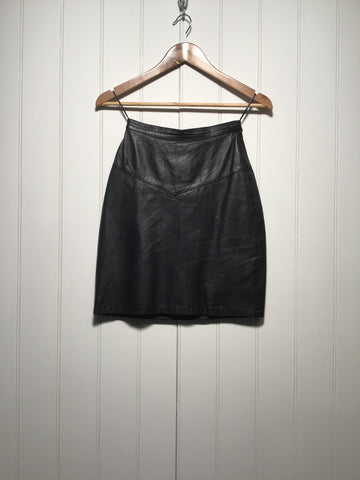 Short Leather Skirt (Size S)