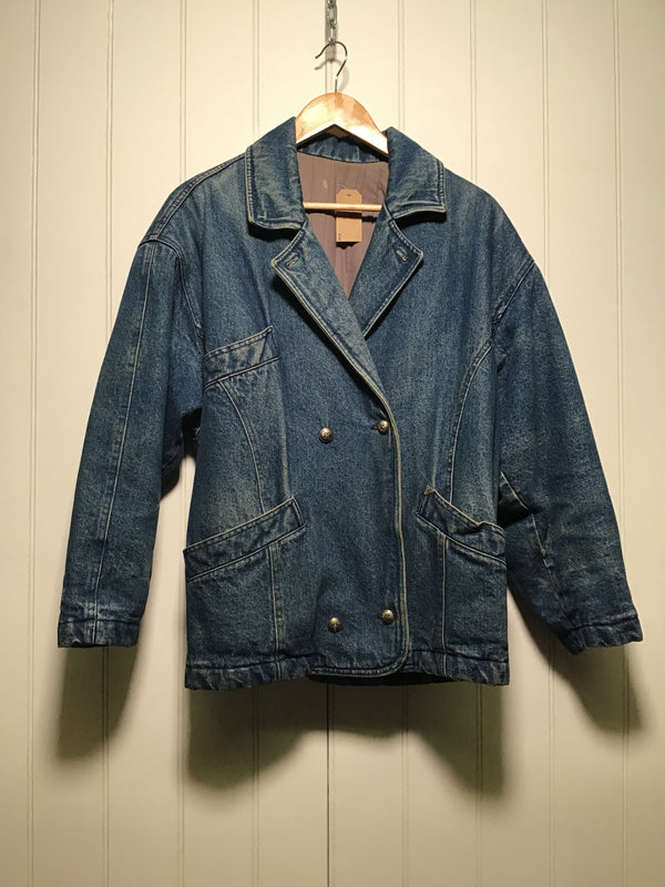 Quilted New Man Denim Jacket (Women's Size S)