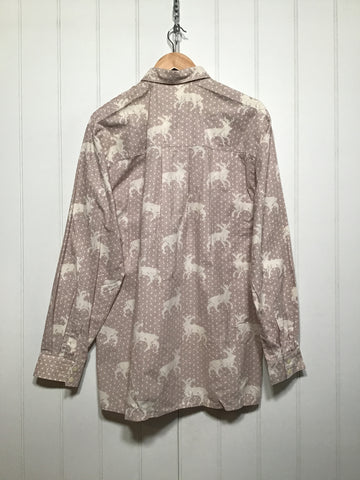 Deer Pattern 70's Shirt (Size M)