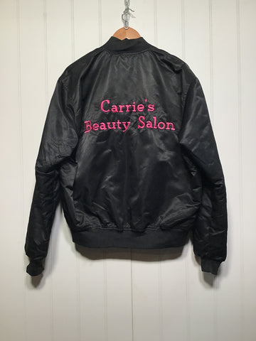 'Carrie's Beauty Salon' Bomber Jacket (Size L)