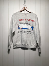 I Love My Boat Sweatshirt (Size M)
