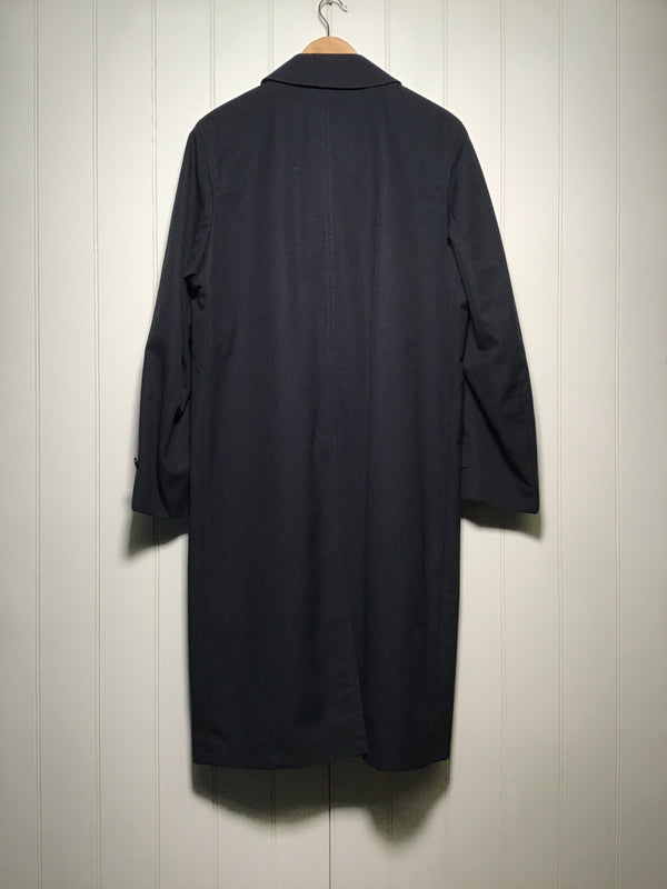 Check Lined Trench Coat (Size L)
