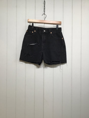 "Distressed Levi Denim Shorts (Size 29"" Waist)"