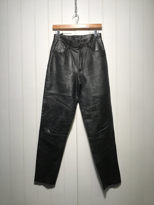 Women's Leather Trousers (Size S)