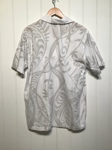 White Hawaiian Shirt (Size M)