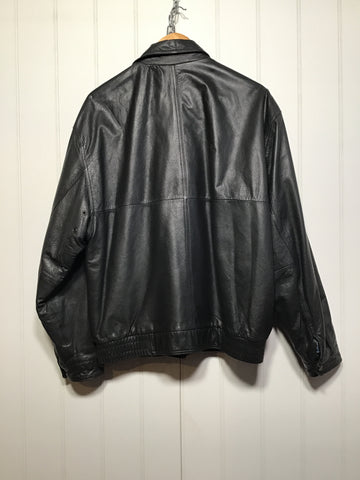 At Michael Leather Bomber Jacket (Size L)