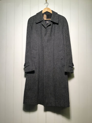 Burberry Formal Irish Tweed Wool Coat (Size L)